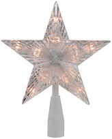 """clear Northlight 7"""" Traditional 5-Point Star Christmas Tree Topper Lights"""