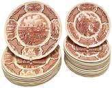 One Kings Lane Vintage Staffordshire Fair Winds Plates Set of 23