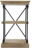 """A&B Home Wood and Metal Low 32"""" Etagere Bookcase"""