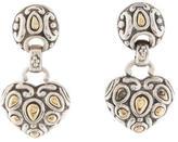 John Hardy Two-Tone Heart Drop Earrings