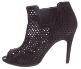 Pedro Garcia Perforated Suede Booties