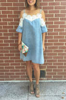 POL Denim Seashell Dress