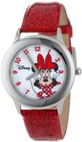 "Disney Kids' W000914 ""Tween Minnie Glitz"" Stainless Steel Watch with Red Band"