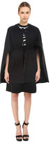 Neil Barrett Mixed Fabrics Flared Cape