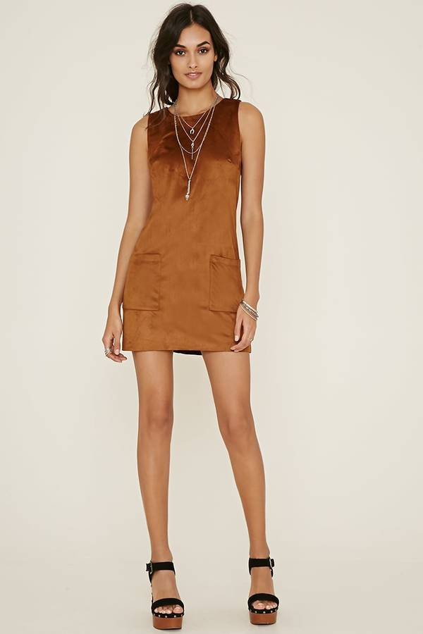 Forever 21 Faux Suede Shift Dress