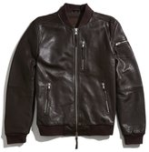 Rogue State Leather Baseball Jacket
