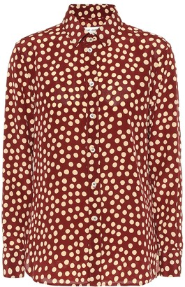 Saint Laurent Dotted silk crepe de chine blouse