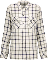 Current/Elliott The Perfect checked cotton-blend shirt