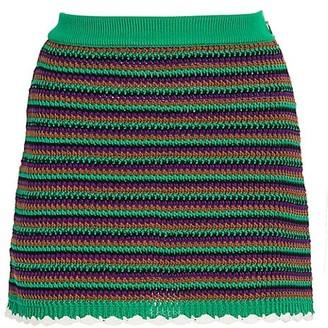 Miu Miu Crochet Wool Mini Skirt