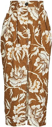 Mara Hoffman Florence Floral Midi Pencil Skirt