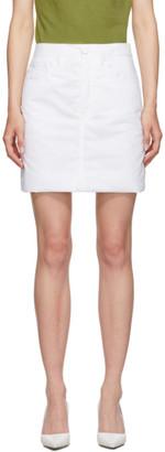MM6 MAISON MARGIELA White Padded Miniskirt