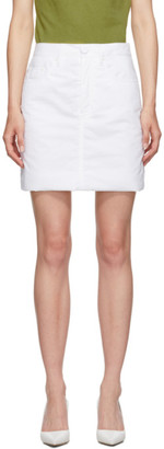 MM6 MAISON MARGIELA White Padded Miniskirt