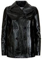 Valentino Double-Breasted Leather Jacket