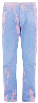 Aries Lilly Marble-dyed Straight-leg Jeans - Mens - Purple