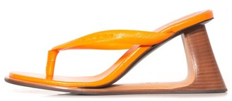 Marni Wedge Thong Sandal in Nectarine