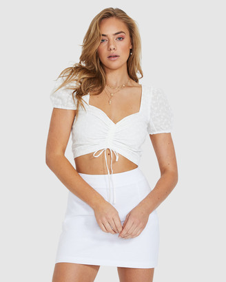 Don't Ask Amanda Belle Broderie Puff Top