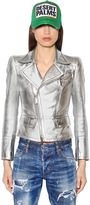 DSQUARED2 Metallic Nappa Leather Jacket