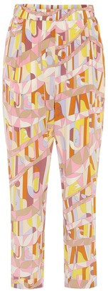 Emilio Pucci Printed silk pants