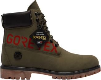 "Timberland 6"" Premium Waterproof Boots Outdoor Boots - Dark Green Nubuk"