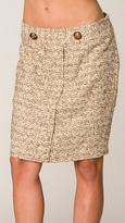 Vanilla/Camel Pegged Skirt