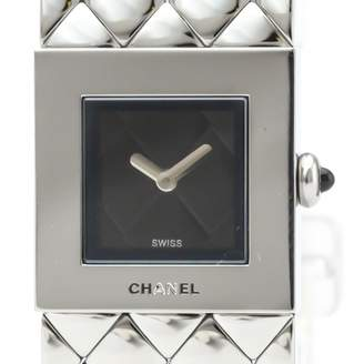 Chanel Black Steel Watches