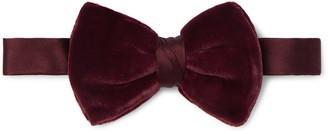 Giorgio Armani Pre-Tied Velvet And Silk-Blend Satin Bow Tie