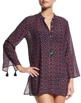 Figue Lisa Floral-Print Tunic Coverup
