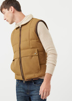 MANGO MAN Shearling Collar Quilted Gilet