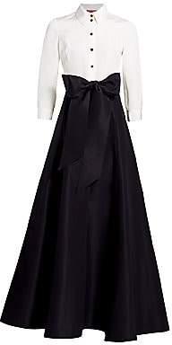 Carolina Herrera Women's Icon Contrast Silk Trench Dress