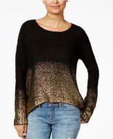 One Hart Juniors' Metallic-Trim Sweater, Created for Macy's