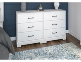 Kathy Ireland Home By Bush Furniture River Brook 6 Drawer Double Dresser Home by Bush Furniture Color: White Suede Oak