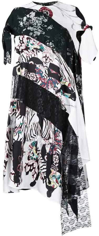 Antonio Marras asymmetric printed panel dress