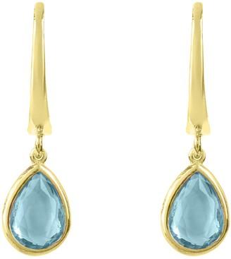 Latelita Pisa Mini Teardrop Earring Gold Blue Topaz