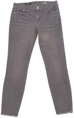 J.Crew Grey Cotton - elasthane Jeans for Women