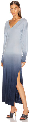 Jonathan Simkhai Ombre Cashmere Long Sleeve Slit Dress in Midnight Ombre | FWRD