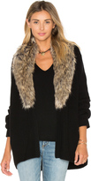 Joie Evina Faux Fur Collar Cardigan