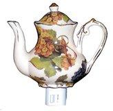 Green Pastures Wholesale Grape Teapot Porcelain Night Light