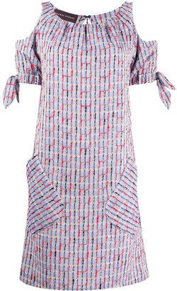 Talbot Runhof Sleeve-Knot Midi Dress