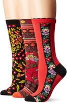 Ozone Women's Novelty Crew Socks 3 Pack