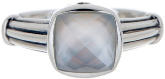 Lagos Sterling Silver White Crystal Ring - Size 7