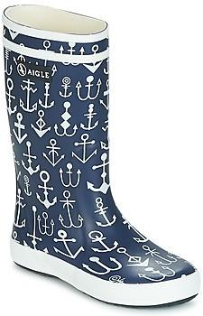 Aigle LOLLY POP KID girls's Wellington Boots in Blue
