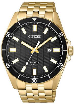 Citizen Quartz Mens Gold Tone Stainless Steel Bracelet Watch-Bi5052-59e Family