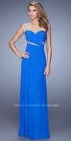 La Femme Asymmetrical Ruched Chiffon Prom Gown