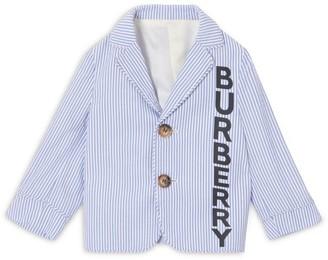 Burberry Kids Logo Print Blazer Jacket