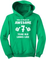 TeeStars - This Is What an Awesome 7 Year Old Looks Like Youth Hoodie