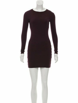 Opening Ceremony Striped Bodycon Dress Red