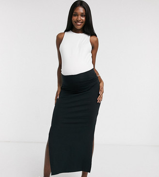 Mama Licious Mama.Licious Mamalicious maternity organic tube maxi skirt