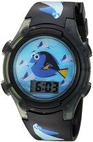Disney Girl's Quartz Plastic Casual Watch, Color:Black (Model: FDO3014)