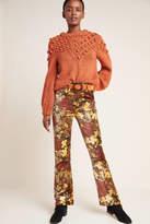 A Gold E Agolde AGOLDE Nico Ultra High-Rise Velvet Bootcut Jeans