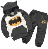 MITIAO Unisex Child Long Sleeve Cartoon Batman Hoodies Sweatshirts Set